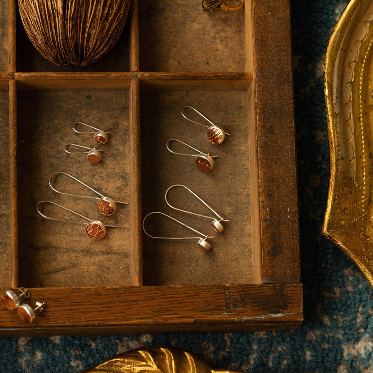 Mozzafiato Drop Earrings - Long Copper
