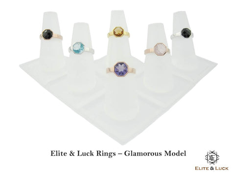 Rings & Earrings - Glamorous Model