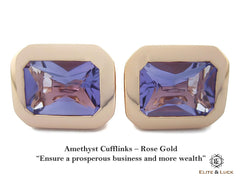 Elite & Luck Amethyst Cufflinks for men