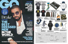 """Elite & Luck Cufflinks"" in British GQ Magazine, February 2017."
