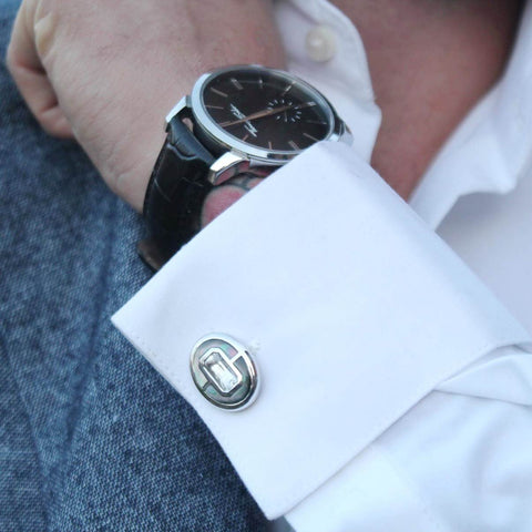 Chez Rust (@chezrust) with Elite & Luck Cufflinks