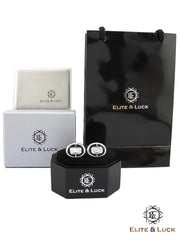 Elite & Luck Luxury Gemstone Sterling Silver Cufflinks are the classy presents for men