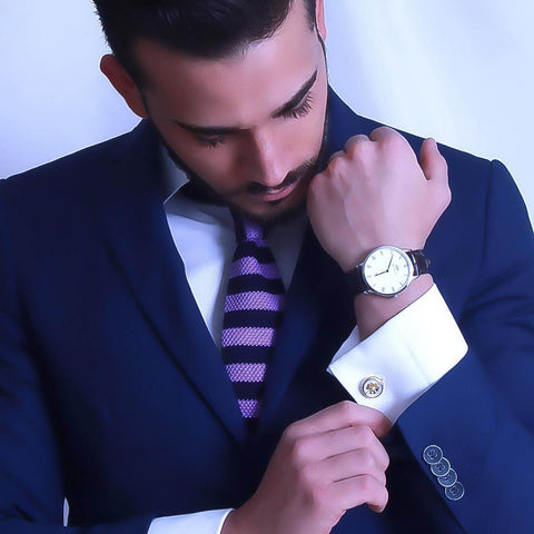 Gianni Mauriello (@gianni_mauriello) with Elite & Luck Cufflinks