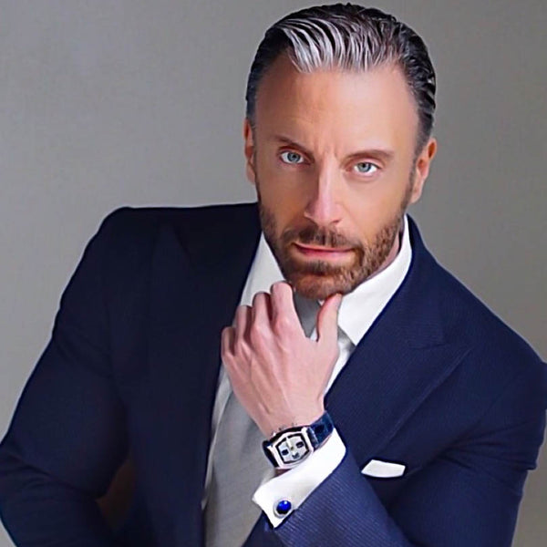 Christopher Korey (@christopherkorey) with Elite & Luck Cufflinks