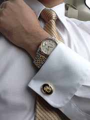 You could choose Elite & Luck cufflinks to go with a watch.