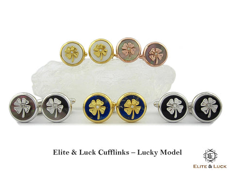 Elite & Luck Gemstone Cufflinks for Men, Lucky Model