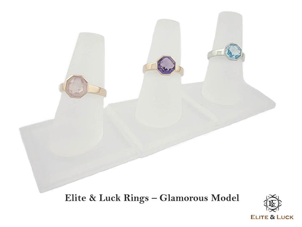 Elite & Luck Gemstone Ring, Glamorous Model