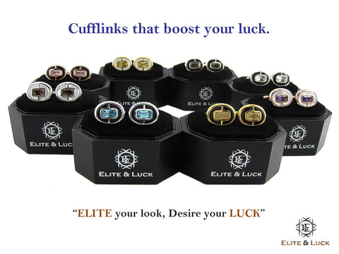 Elite & Luck Cufflinks : Elite Your Look, Desire Your Luck