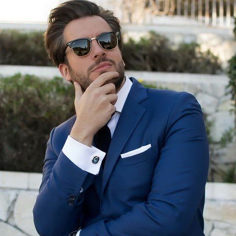 Rafa Sequeira (@rafasequeira) with Elite & Luck Cufflinks