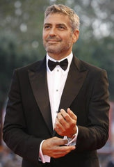 George Clooney with his cufflinks