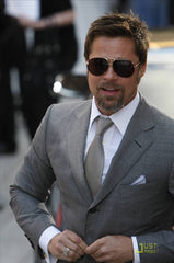 Brad Pitt with his cufflinks