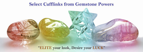 Select Elite & Luck Cufflinks from Gemstone Powers