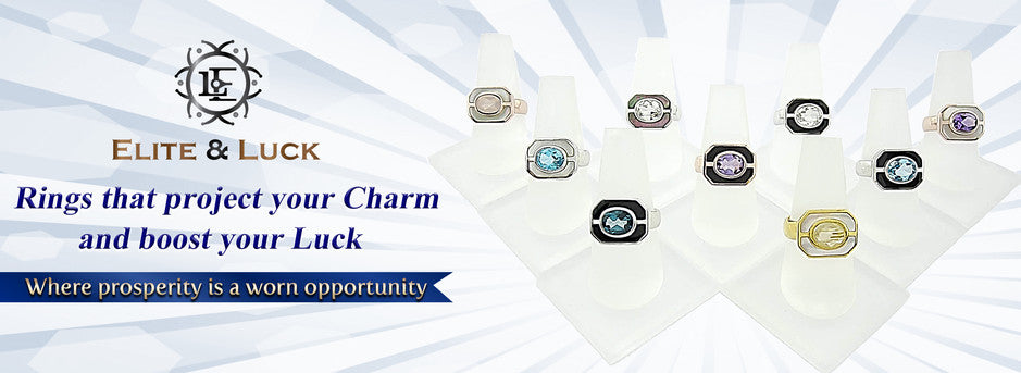 Elite & Luck Luxury Gemstone Sterling Silver Rings