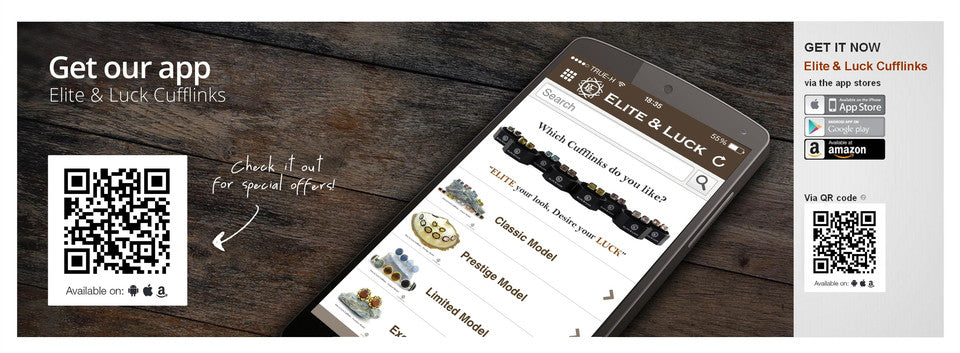 Elite & Luck Cufflinks App for IOS and Android