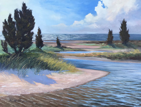 Original oil painting by Keith Magner.  See available paintings for marine paintings, coastal paintings, plein air paintings and landscape paintings. Shop local for wall art direct from the artist to enrich your home or office or as a unique gift