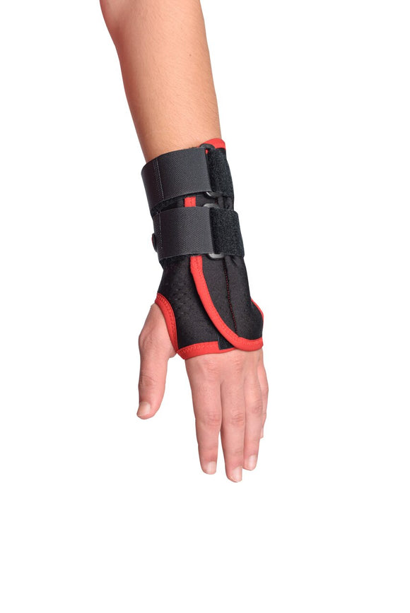 MAXAR Airprene (Breathable Neoprene) Wrist Splint - Black w/Red Trim