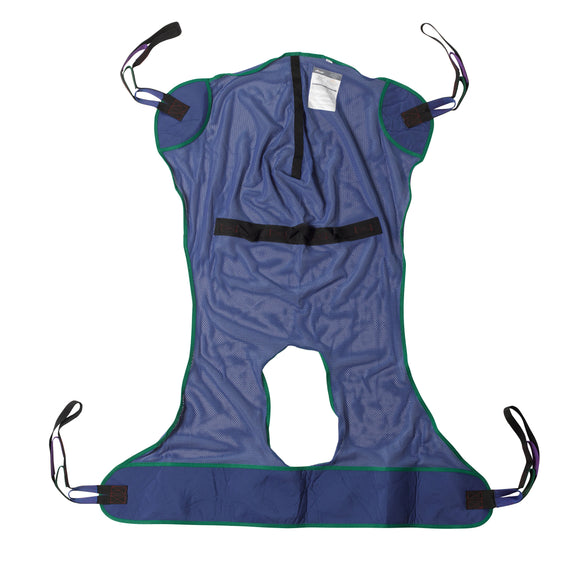 Full Body Patient Lift Sling, Mesh with Commode Cutout, Large