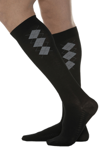MAXAR Mens Fashion Cotton Compression Support Socks- Black