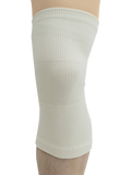 MAXAR Wool/Elastic Knee Brace (Two-Way Stretch, 56% Wool) - White