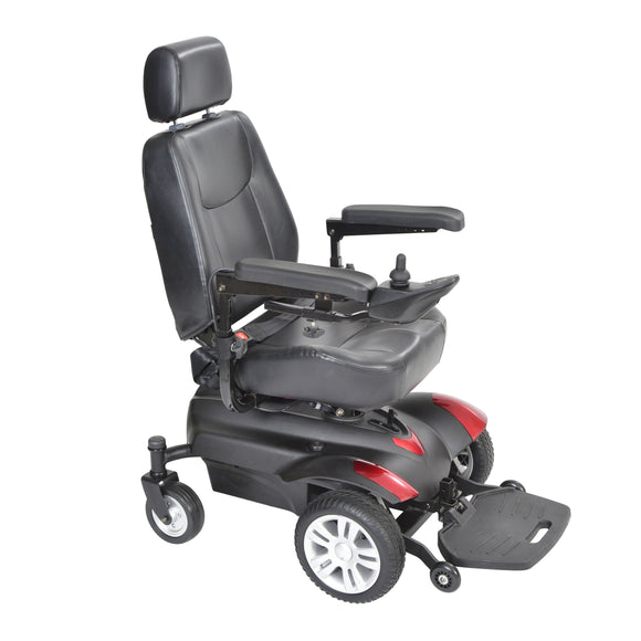 Titan Transportable Front Wheel Power Wheelchair, Vented Captain's Seat, 18