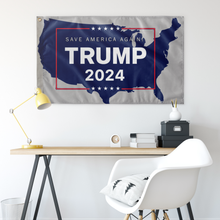 Load image into Gallery viewer, Trump 2024 USA Flag Gray