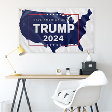 Load image into Gallery viewer, Trump 2024 USA Flag White