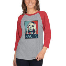 Load image into Gallery viewer, Kayleigh Facts 3/4 sleeve raglan shirt