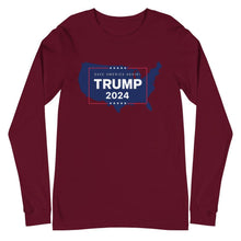 Load image into Gallery viewer, Trump 2024 USA Unisex Long Sleeve Tee