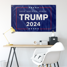 Load image into Gallery viewer, Trump 2024 Save America Again Flag - Us Against Media