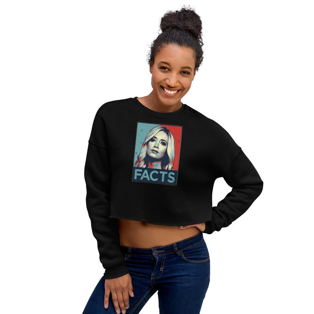 Kayleigh Facts Crop Sweatshirt - Us Against Media
