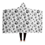 B&W Paw Hooded Blanket - Iron Paws