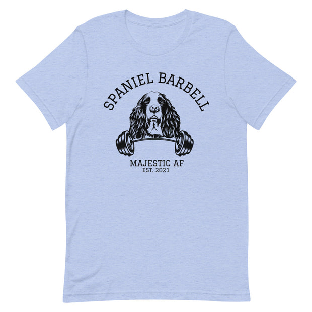 Spaniel Barbell T-Shirt - Iron Paws