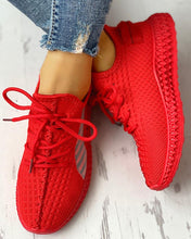 Load image into Gallery viewer, Breathable Red Stretch Sneakers EST 1995