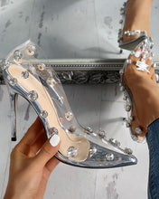 Load image into Gallery viewer, Clear Embellished Stiletto