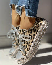 Load image into Gallery viewer, Embellished Leopard Print Low Top Sneaker