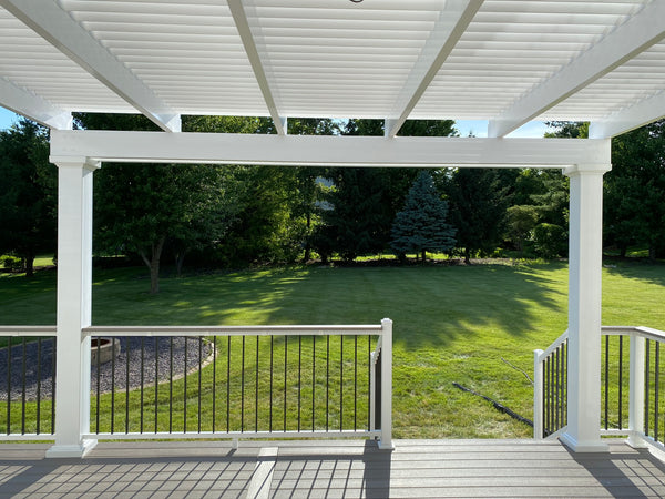 Traditional Pergola Modified to Look Modern (Underneath)