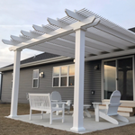 Freestanding Traditional Pergola with 2 Posts Against House