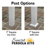 Modern Pergola Post Options