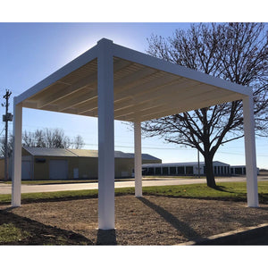 Modern Freestanding White Pergola with 4 Posts