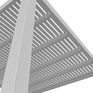 Modern Pergola Post and Roof From Below