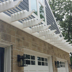 Eyebrow Pergola Kit (Place Over Garage, Front Door and/or Windows) - 3' Depth - Premium Vinyl w/ Aluminum Frame
