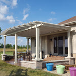 Freestanding Traditional Pergola with 6 Posts – Up Against House
