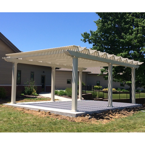 Traditional Freestanding Tan Pergola with 6 Posts – by Sunset Pergola Kits