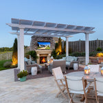 Freestanding Traditional Pergola on Gorgeous Patio