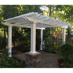 Freestanding Traditional Pergola in Trees