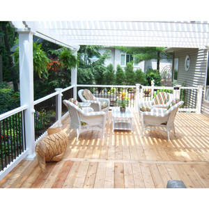 Attached Pergola with Nice Wood Floor