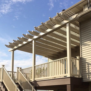 3-Post Traditional Attached Pergola by Sunset Pergola Kits