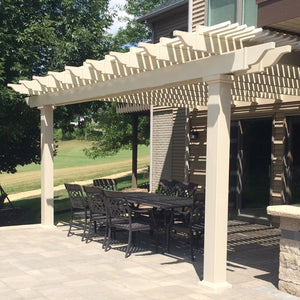Traditional Attached Pergola by Sunset Pergola Kits