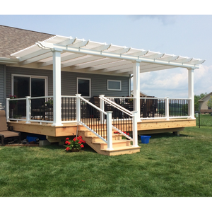3-Post Attached Pergola with Unfinished Deck