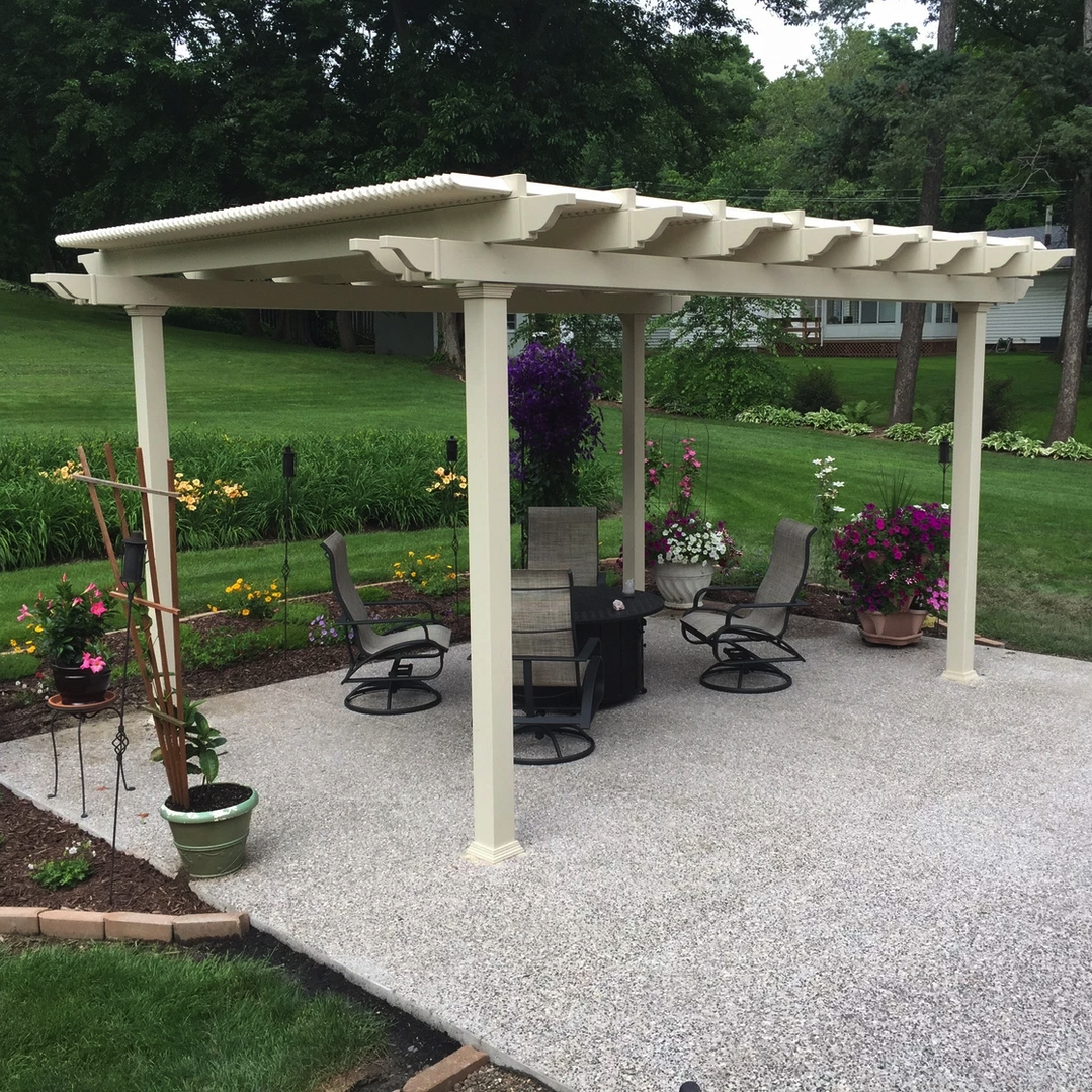 Traditional Freestanding Tan Pergola by Sunset Pergola Kits